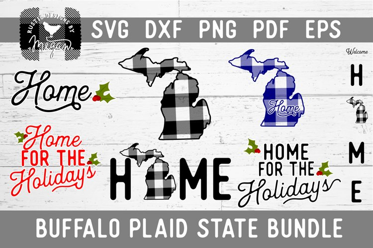 Michigan Buffalo Plaid State SVG Bundle
