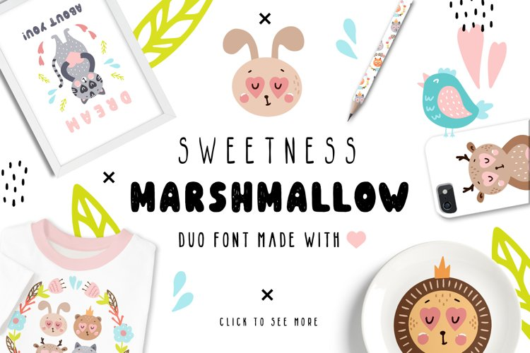 Sweetness Marshmallow - Font Duo example image 1