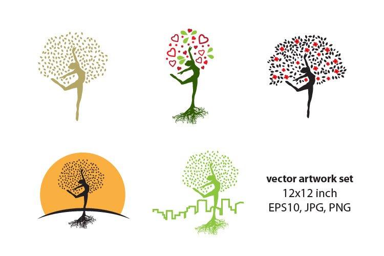 Female Tree - VECTOR ARTWORK SET example image 1