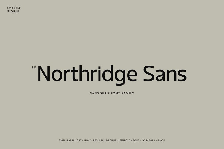 ED Northridge Sans example image 1