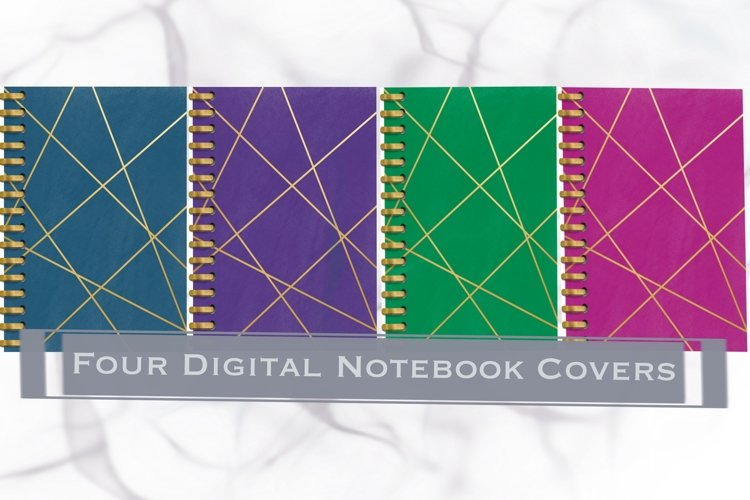 Four Digital Notebook/Planner Covers example image 1