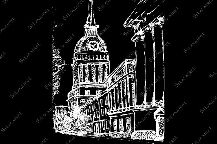 Saint Petersburg Main Admiralty building vector sketched art example image 1