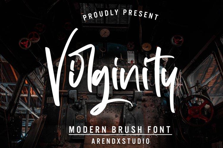 Virginity - Modern Brush Font