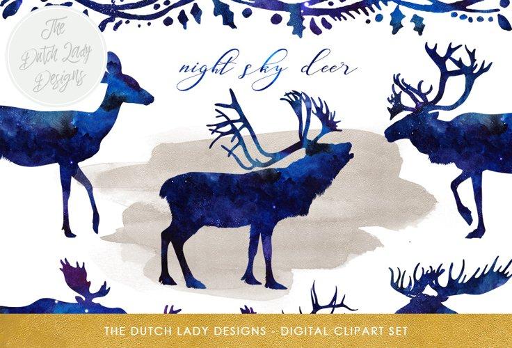 Deer, Reindeer   Moose Clipart Set