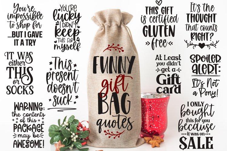 Funny Gift Bag Quotes, Wine Bag Bundle, Sarcastic Gift Tags
