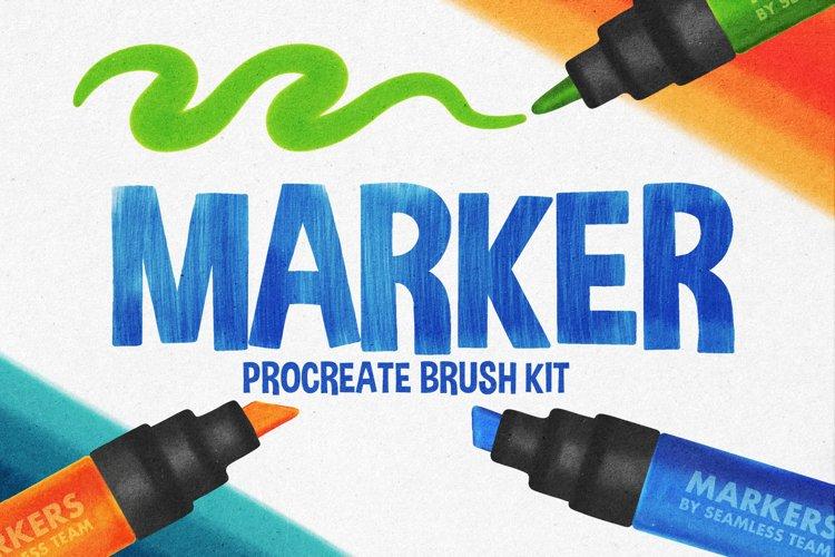 MARKER BRUSHES FOR PROCREATE 5 example image 1