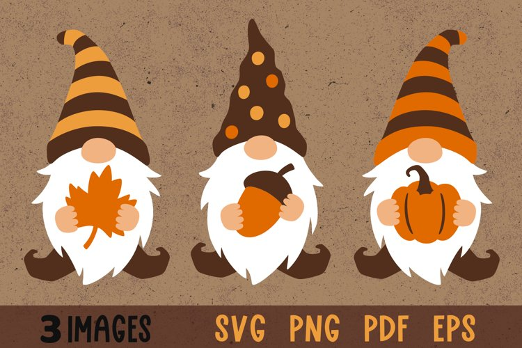 Fall gnome svg Gnomes fall svg Gnome clipart Fall clipart example image 1