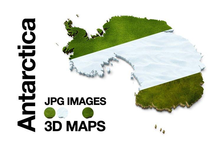 Antarctica 3D Maps Images Grass Snow Terrain