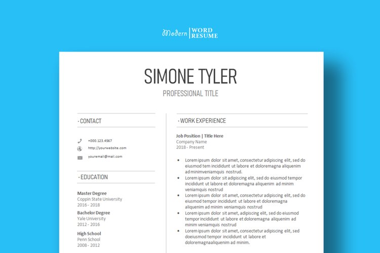 Resume Template Cover Letter Reference Page 2021 838184 Resume Templates Design Bundles