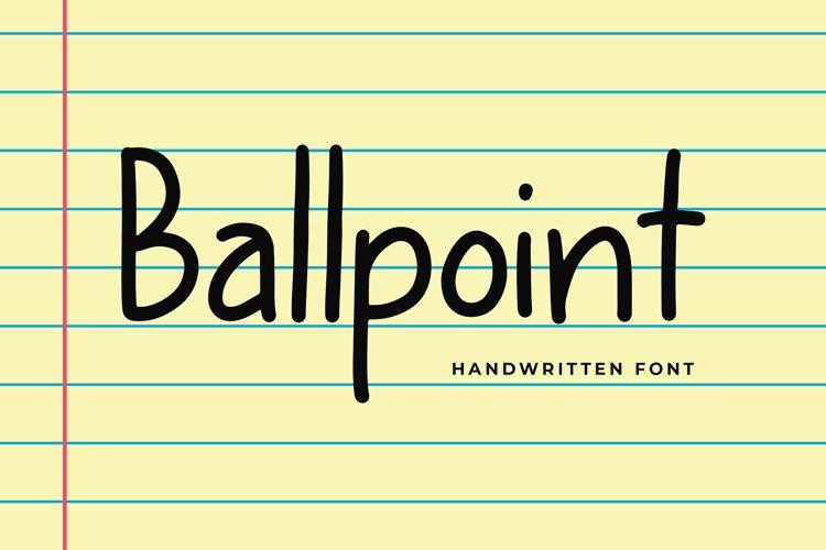 Ballpoint Modern Display Font example image 1