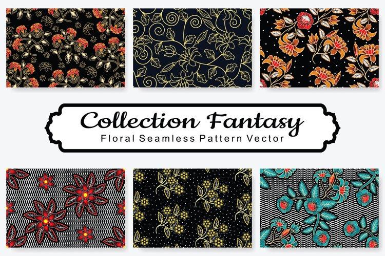 Set Of Fantasy Floral Vector Pattern Vol.2 example image 1