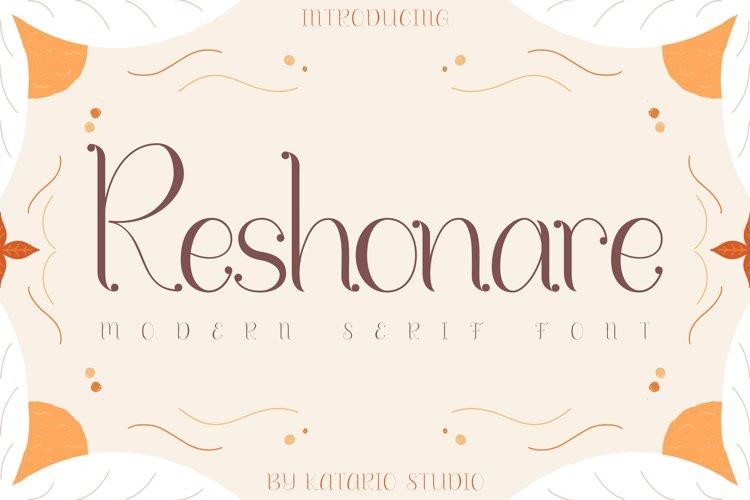 Reshonare | Modern Serif Font example image 1