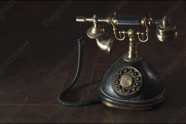 Old vintage rotary phone example image 1
