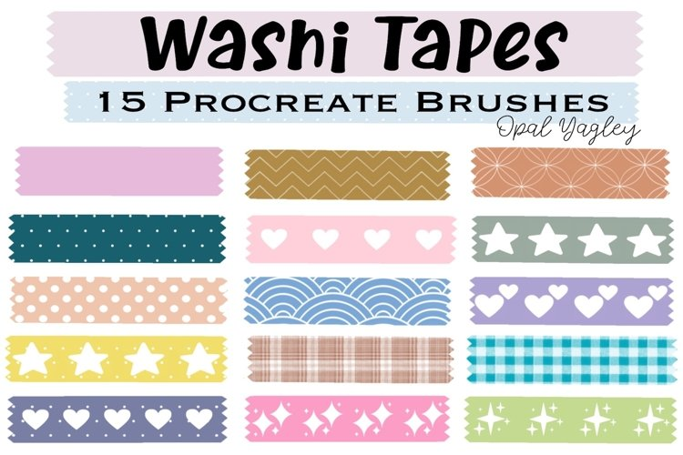 Washi Tapes Procreate Brushes / Craft and Scrapbook Brushes example image 1