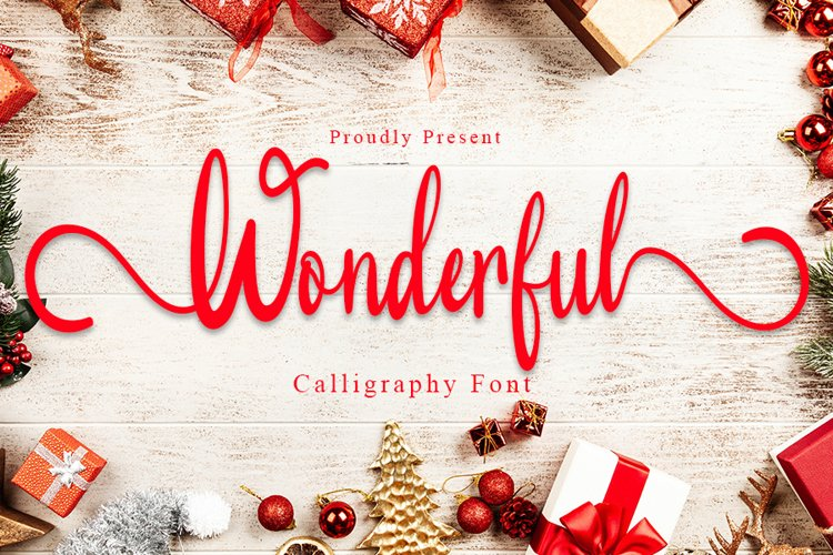 Wonderful - Modern Calligraphy Font example image 1