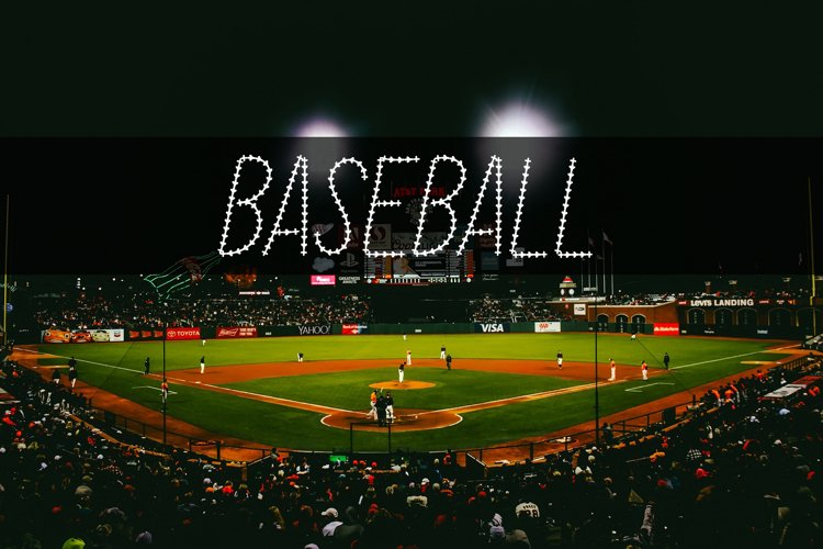 Baseball Stitch Font example image 1
