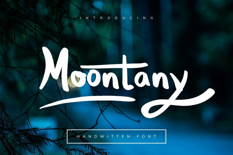 Moontany Font example image 1