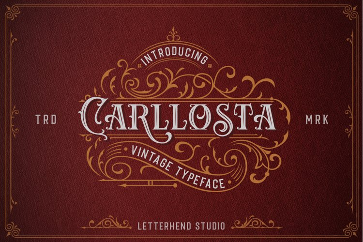 Carllosta - Layered Font and EXTRAS example image 1