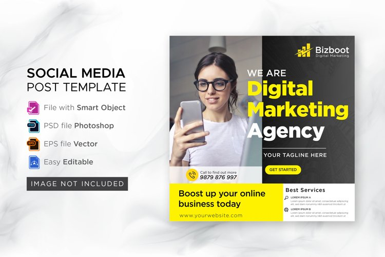 Digital marketing social instagram post
