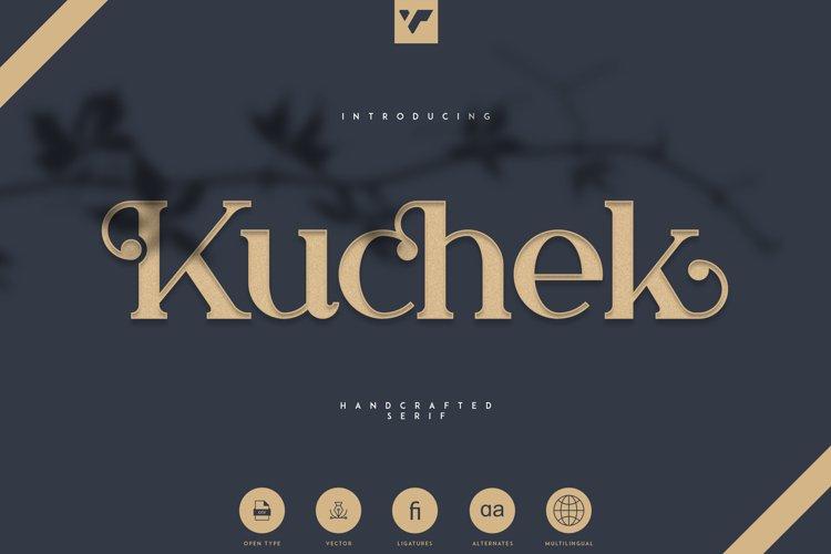 Kuchek - Handcrafted Serif Font example image 1