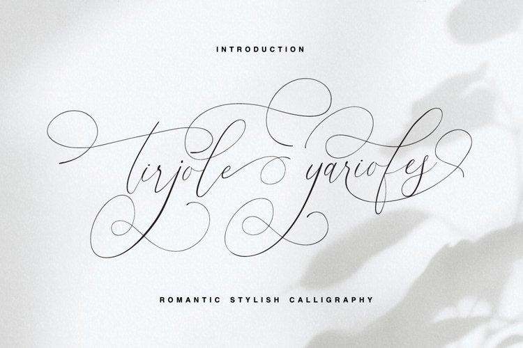 tirjole yariofes - romantic stylish calligraphy example image 1