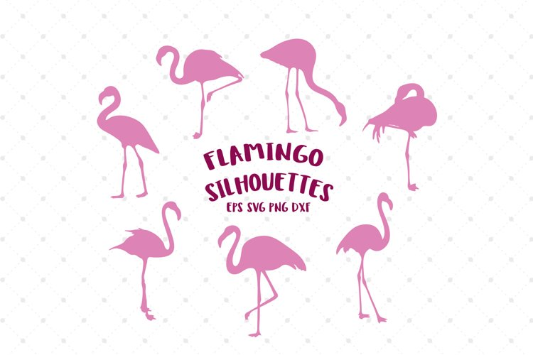 Flamingo Silhouettes SVG Cut Files