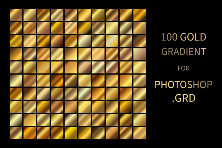 Gold Gradients for Photoshop .GRD Big Set Bundle
