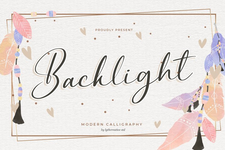 Backlight Modern Calligraphy example image 1