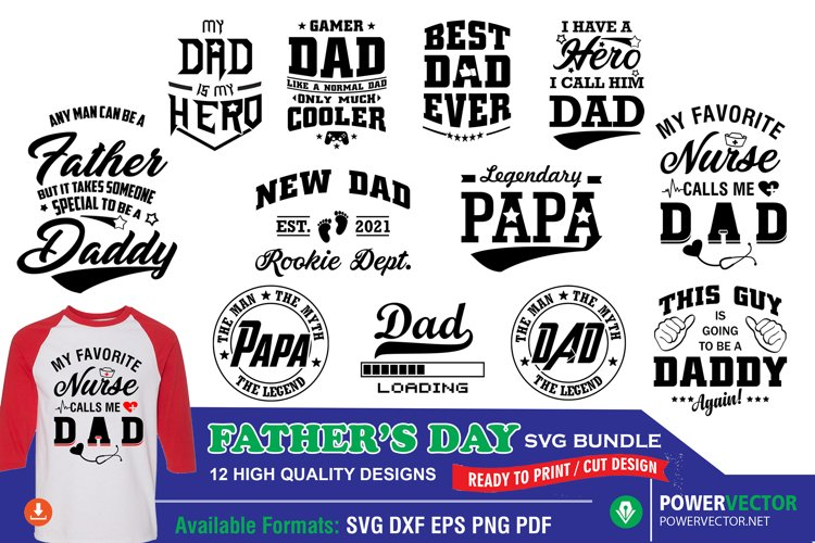 Fathers Day Bundle - Dad, Papa, Daddy, Father SVG Cut files