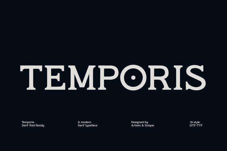 Temporis - Serif Font Family - OTF, TTF example image 1