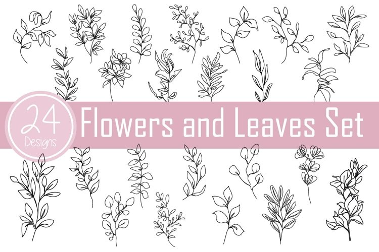 Flowers and Leaves Set