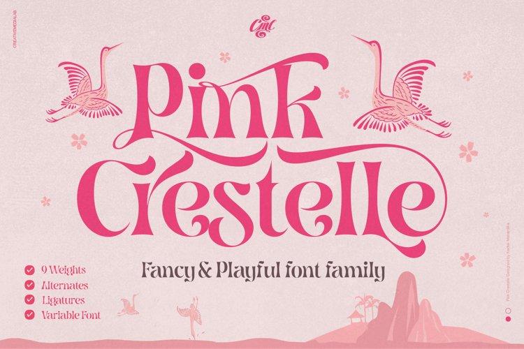 Pink Crestelle - Fancy & Playful font example image 1