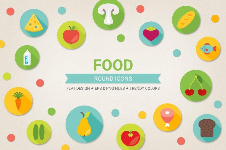 Round Food Icons