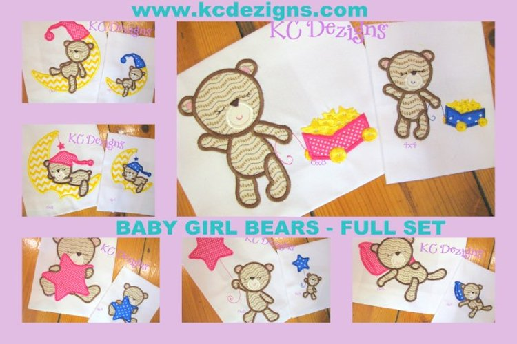 Baby Girl Bear Full Set example image 1
