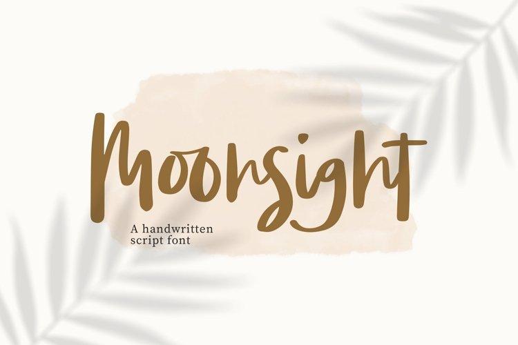 Web Font Moonsight - Script Font example image 1