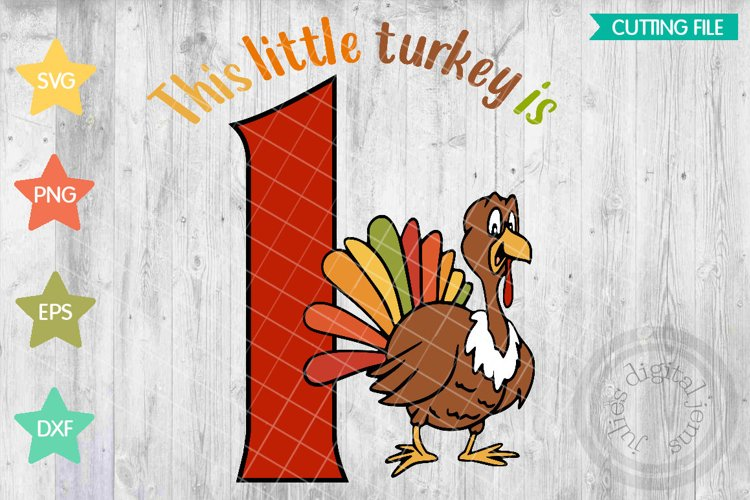 Thanksgiving Birthday 1st, Turkey SVG example image 1