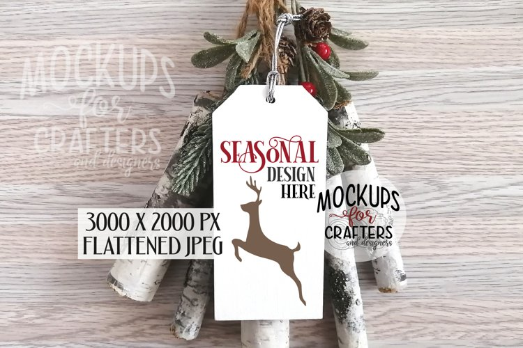 Rectangular Wood Ornament/Tag Mock-Up