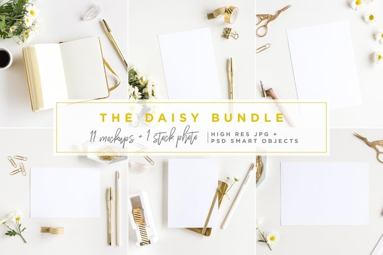 The Daisy Bundle - 11 Mockups and a Stock Photo example image 1