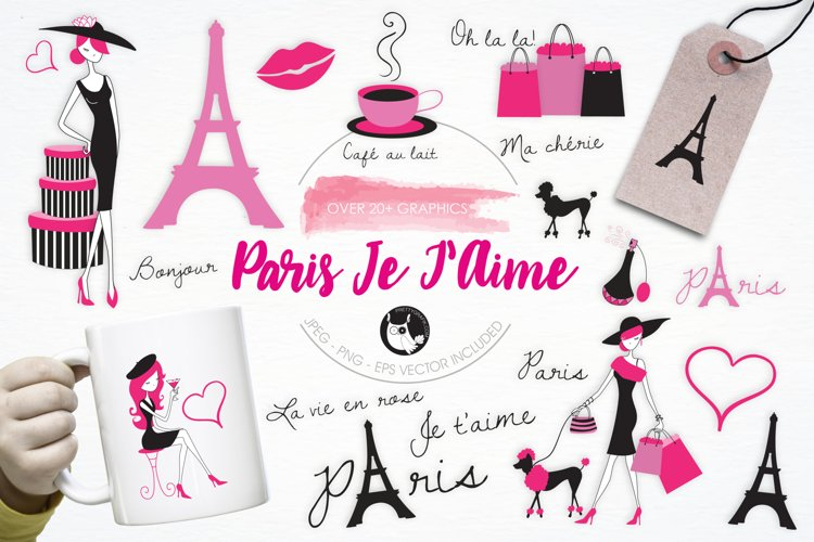 Paris Je T'Aime graphics and illustrations example image 1