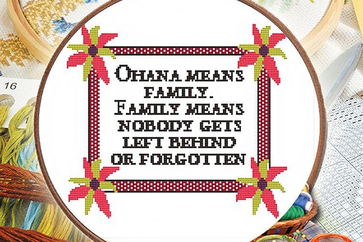 Cross stitch pattern - Ohana means family