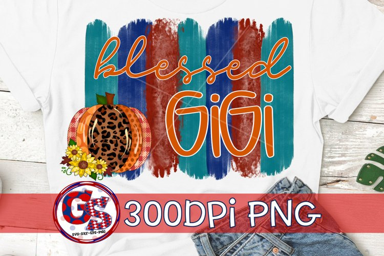 Blessed Gigi PNG for Sublimation | Fall PNG Autumn PNG example image 1