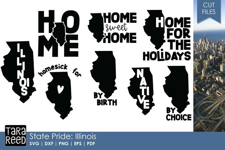 Illinois SVG and Cut Files for Crafters example image 1