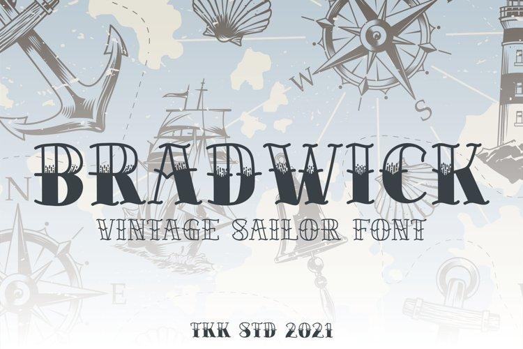 BRADWICK - Sailor Tattoo Font example image 1