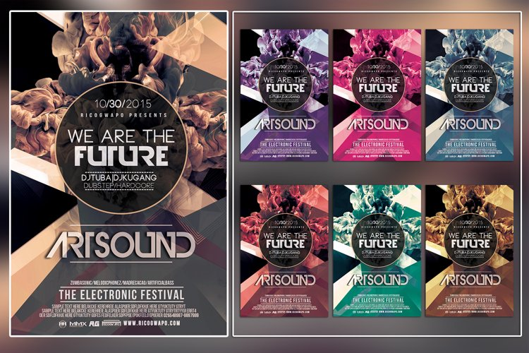 Art Sound Photoshop Flyer Template example image 1