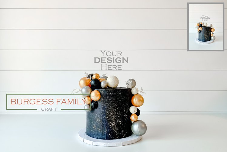 Mockup Dark Cake Topper | JPEG
