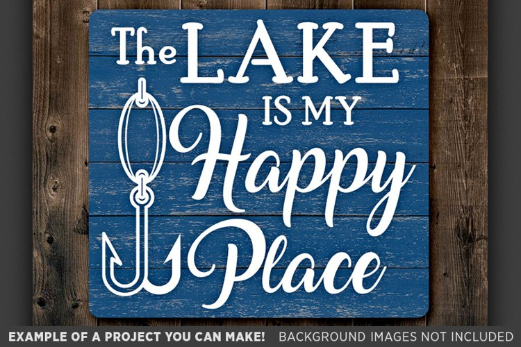 The Lake Is My Happy Place Svg - Fishing Lure - 648 example image 1