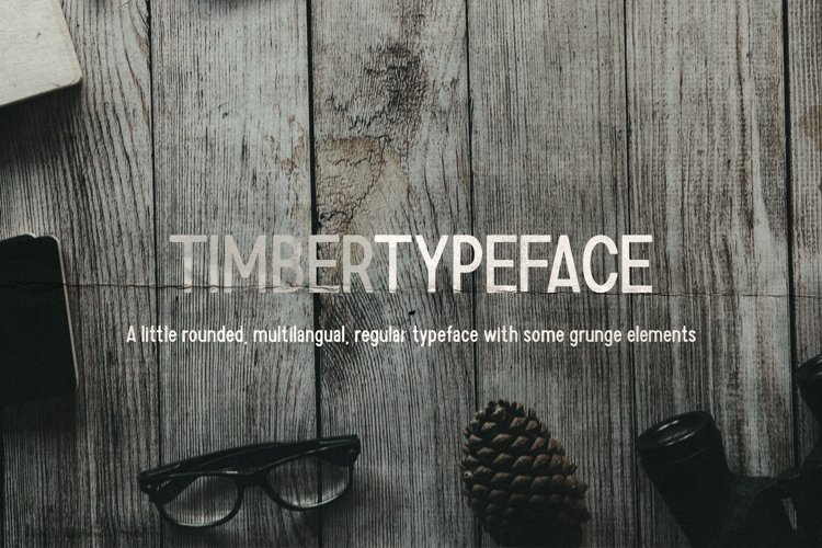 Timber Typeface example image 1