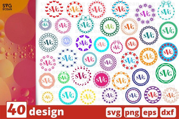 Monogram SVG Bundle   Circle monogram   Monogram Frame