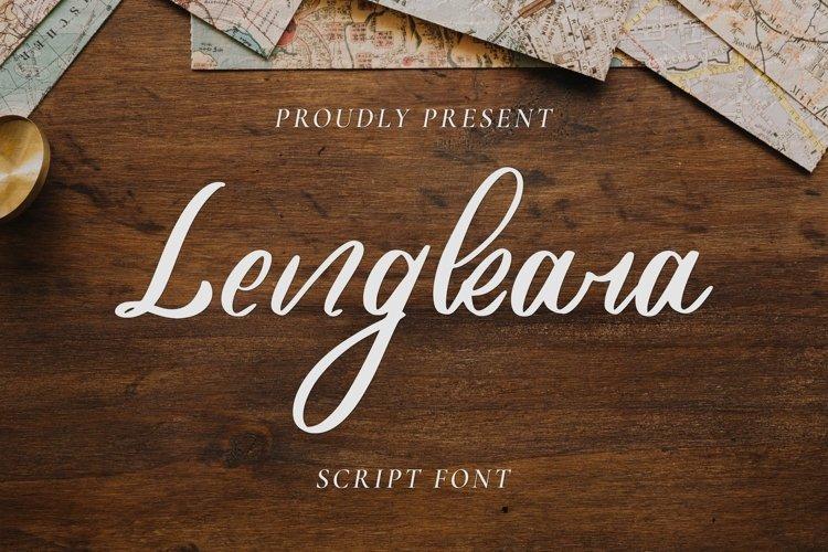 Web Font Lengkara Script example image 1