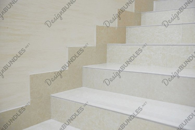 White marble staircase example image 1